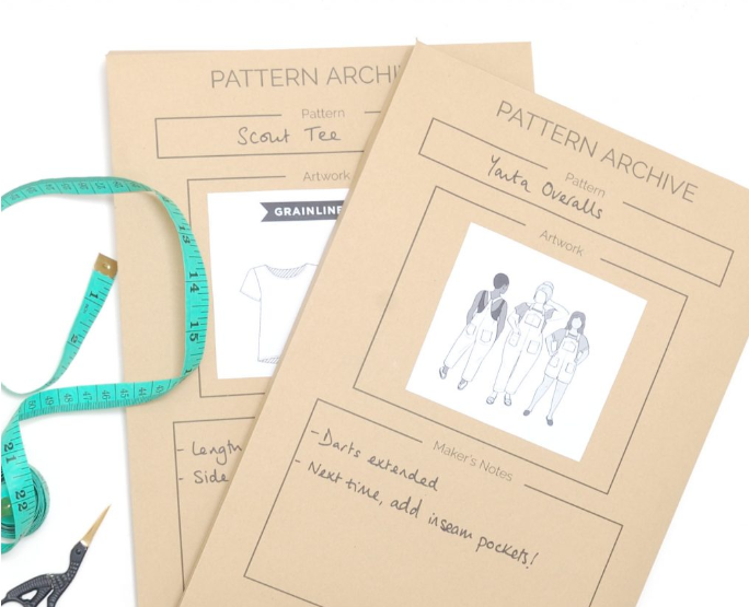 Pattern storage envelopes